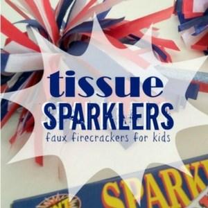 Tissue Sparklers; Faux Fireworks for Kids, TrishSutton.com