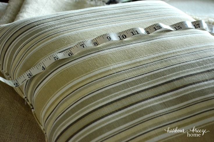 Measuring a pillow