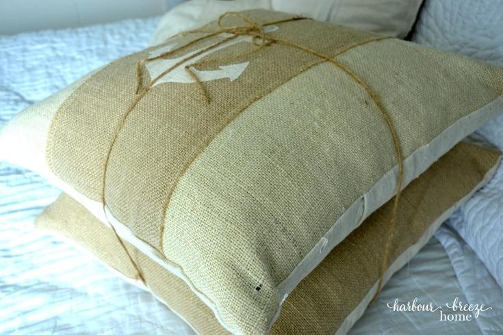 Printed Burlap Pillows