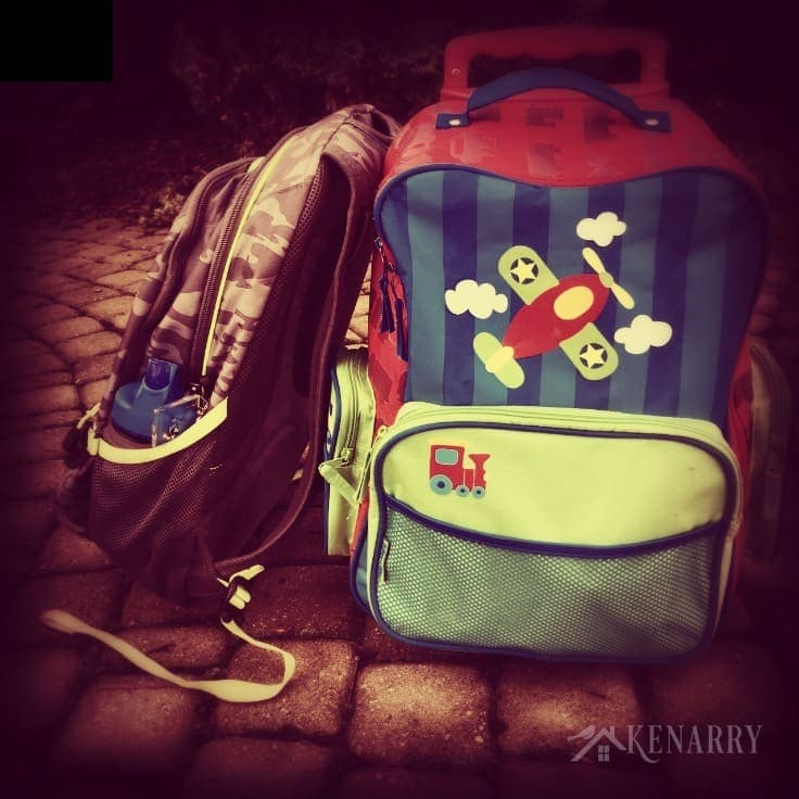 Two kids' backpacks