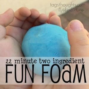 22 Minute Two Ingredient Fun Foam, TrishSutton.com