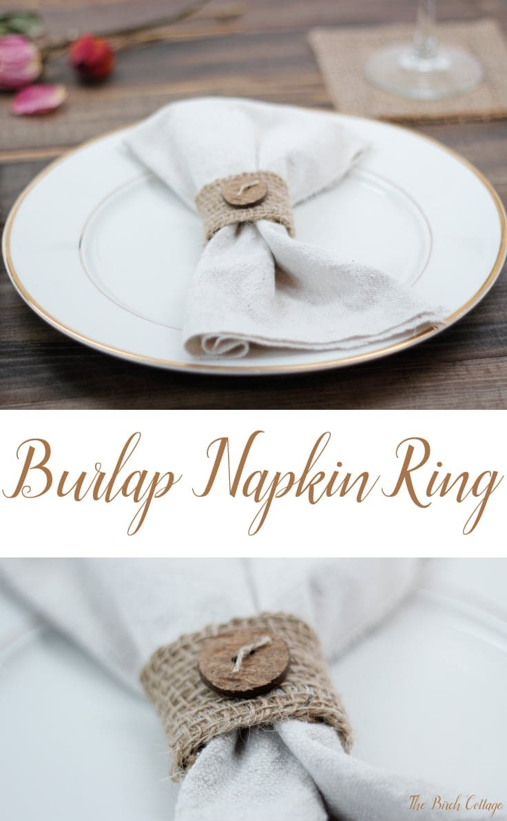 How to make a napkin ring about of burlap ribbon