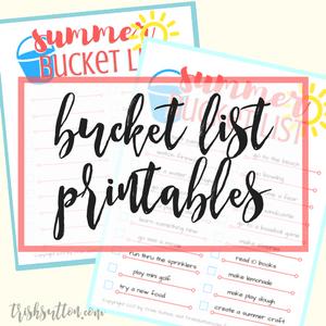 Summer Bucket List Printables, TrishSutton.com