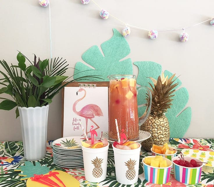 Tiki Punch Recipe for a Tropical Themed Party