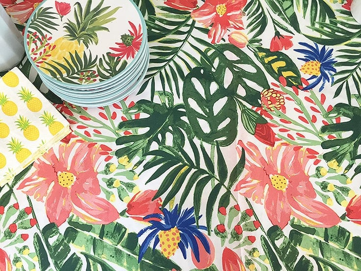 Tropical table cloth from Target