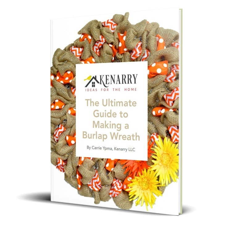 In this ultimate guide, you'll learn how to make a burlap wreath with ribbon for your home. The FREE eBook includes easy step-by-step instructions plus inspiring craft and decor ideas to make wreaths for fall, Christmas, Easter and other holidays.