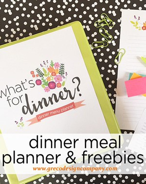 Dinner planner binder and free inserts