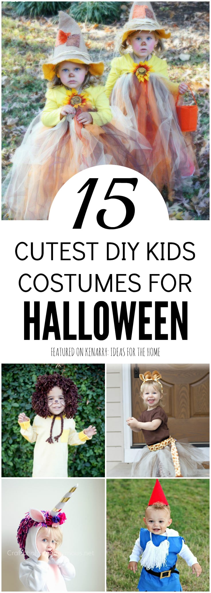 Create an adorable Halloween costume for your child this year. These 15 DIY kids Halloween costumes are the cutest ideas to wear for trick-or-treating on Halloween night.