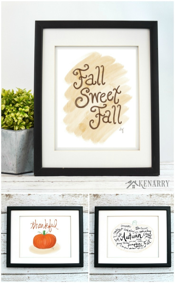 Oh, fall sweet fall.... With the fall art collection from Ideas for the Home by Kenarry®, you can easily update your home decor for autumn, Halloween or Thanksgiving. Each of the 12 prints in this collection is available as digital printable art on Etsy.