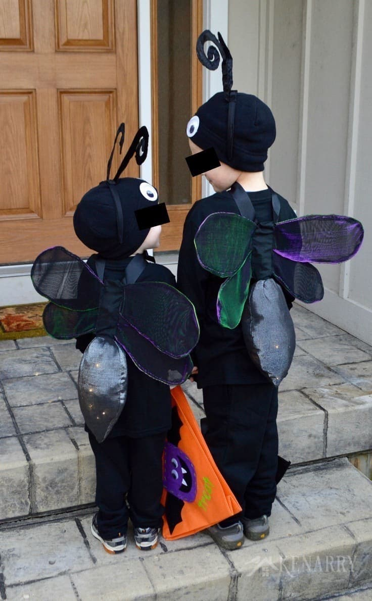 DIY wings that light up make an adorable firefly costume that kids can wear for Halloween or dress up. This sewing tutorial will show you how.