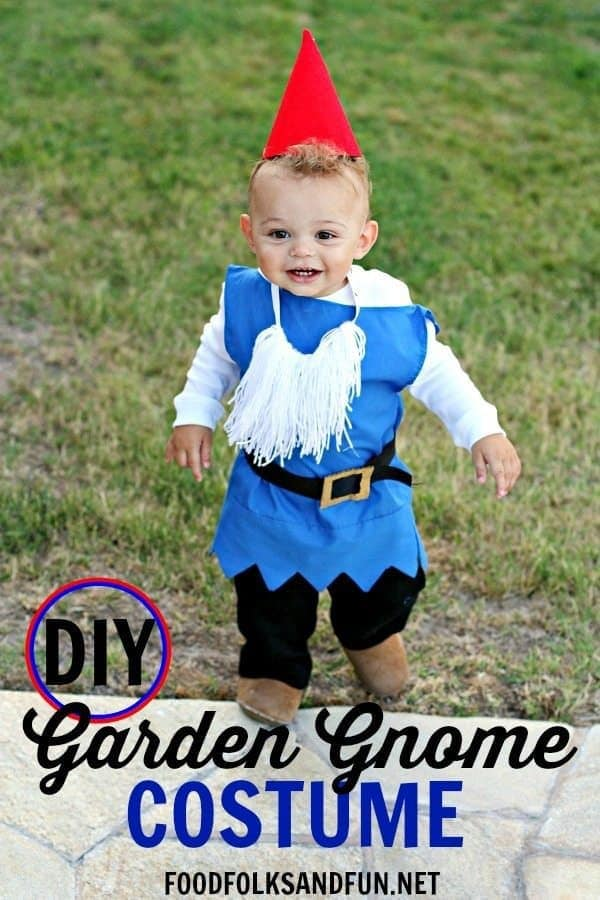DIY Boy Garden Gnome Costume – Food, Folks and Fun - Halloween Costumes: The 15 Cutest Ideas for Kids featured on Kenarry.com