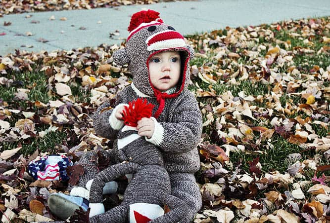 Knit Sock Monkey Costume – Make & Do Crew - Halloween Costumes: The 15 Cutest Ideas for Kids featured on Kenarry.com