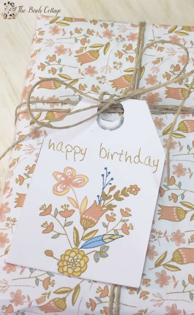 FREE PRINTABLE BIRTHDAY GIFT TAGS JUST FOR YOU! - The Birch Cottage - Jute Craft Ideas / DIY Projects with Twine featured on Kenarry.com