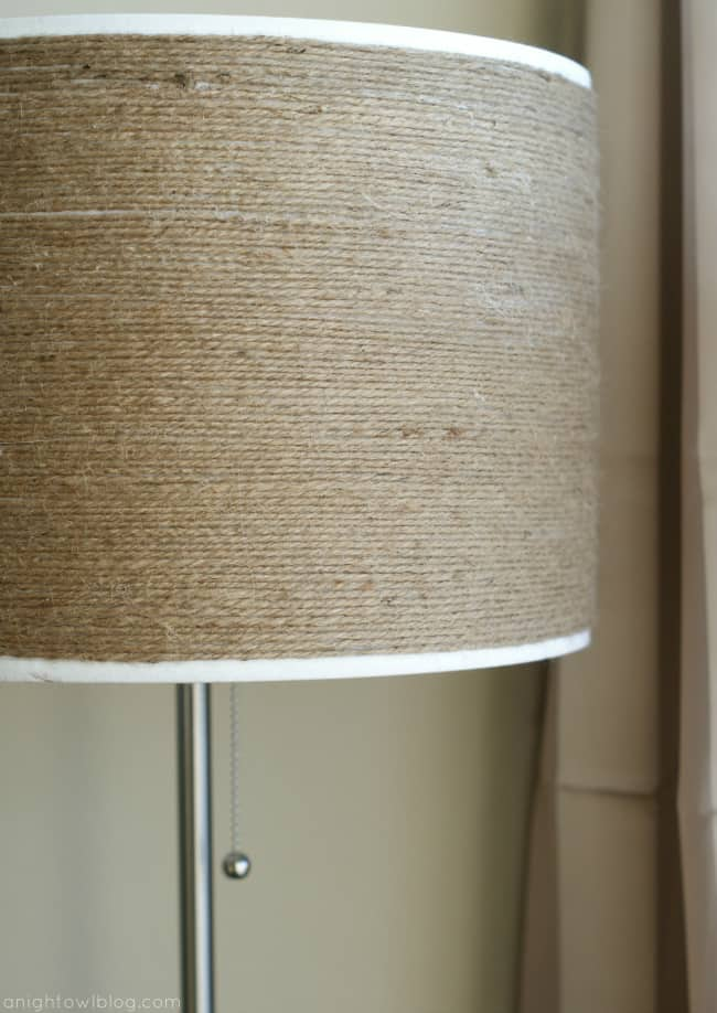 DIY Twine Wrapped Lampshade – A Night Owl Blog - Jute Craft Ideas / DIY Projects with Twine featured on Kenarry.com