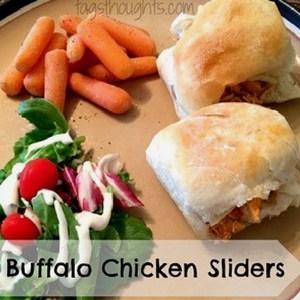 Buffalo Chicken Sliders by Trish Sutton