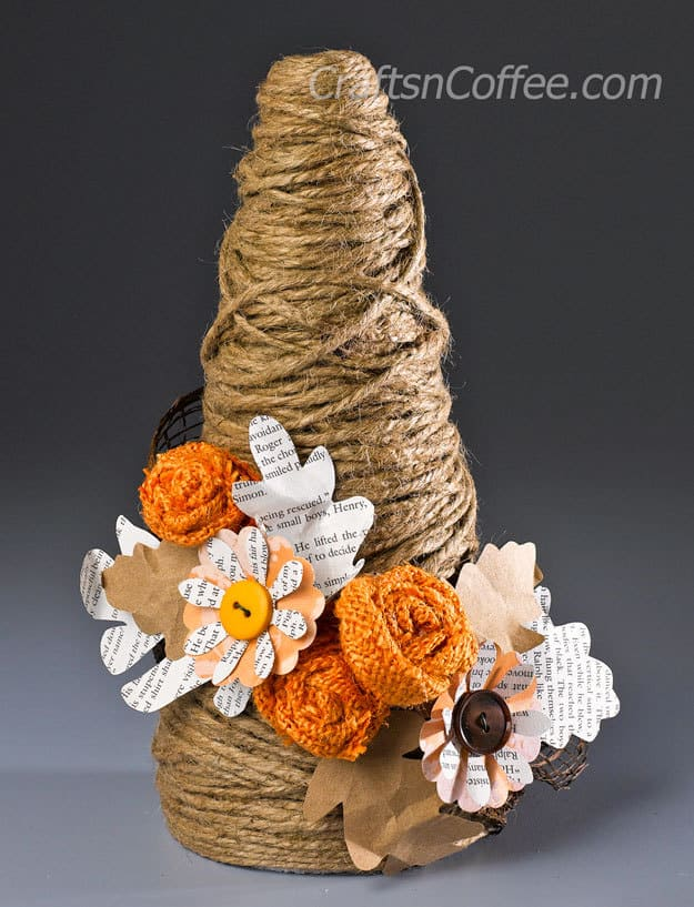 Twine Topiary – Crafts 'n Coffee - Jute Craft Ideas / DIY Projects with Twine featured on Kenarry.com