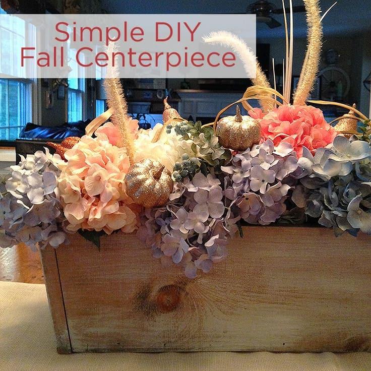 Simple DIY Fall Centerpiece