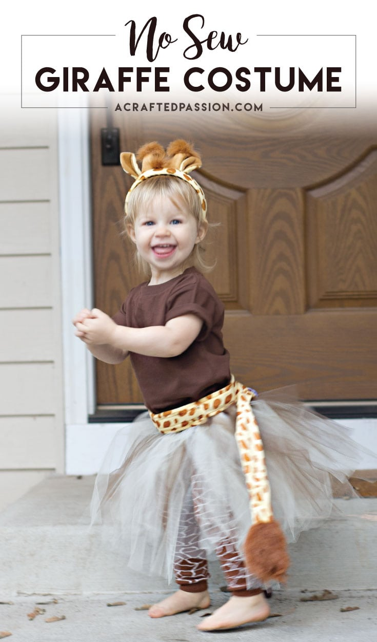 Easy No Sew Giraffe Costume – A Crafted Passion - Halloween Costumes: The 15 Cutest Ideas for Kids featured on Kenarry.com