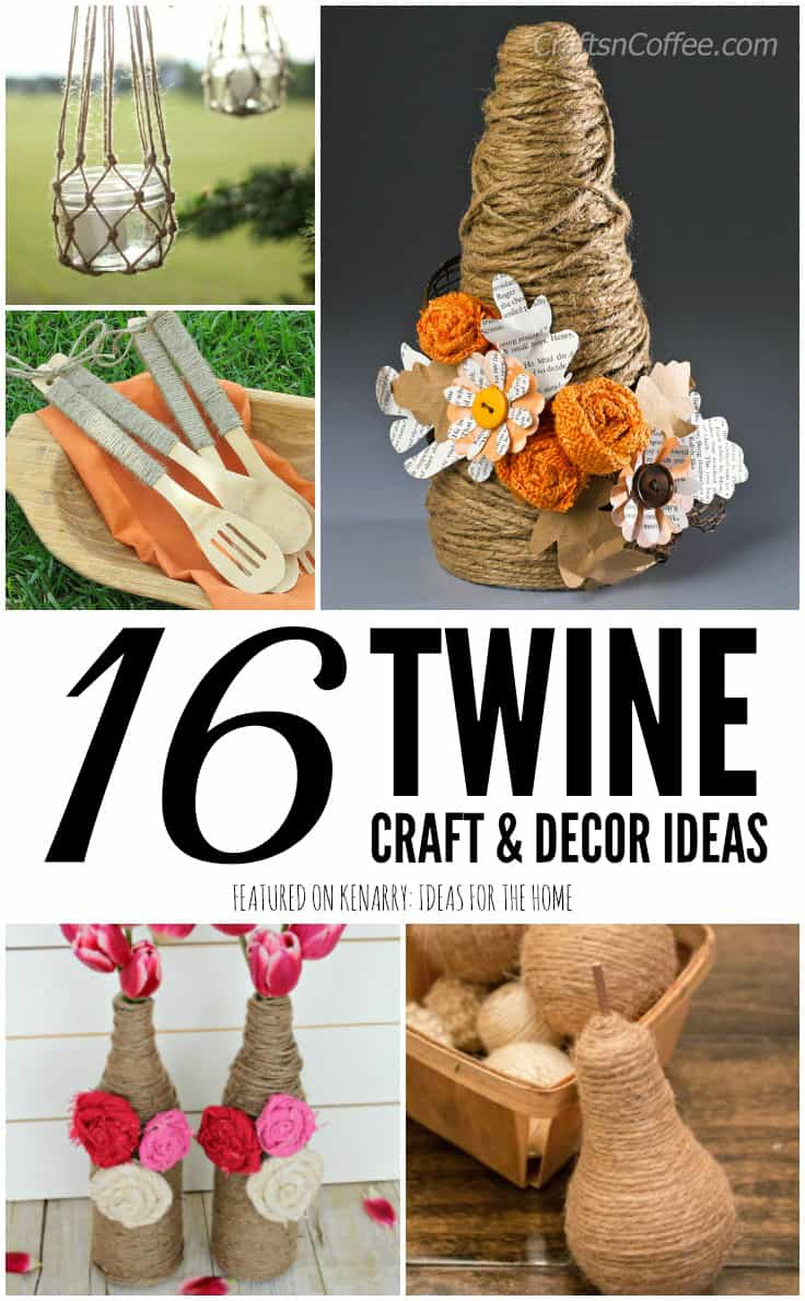 Use twine to create beautiful farmhouse style decorations for your home. These jute craft ideas are fun DIY projects to make in your spare time.