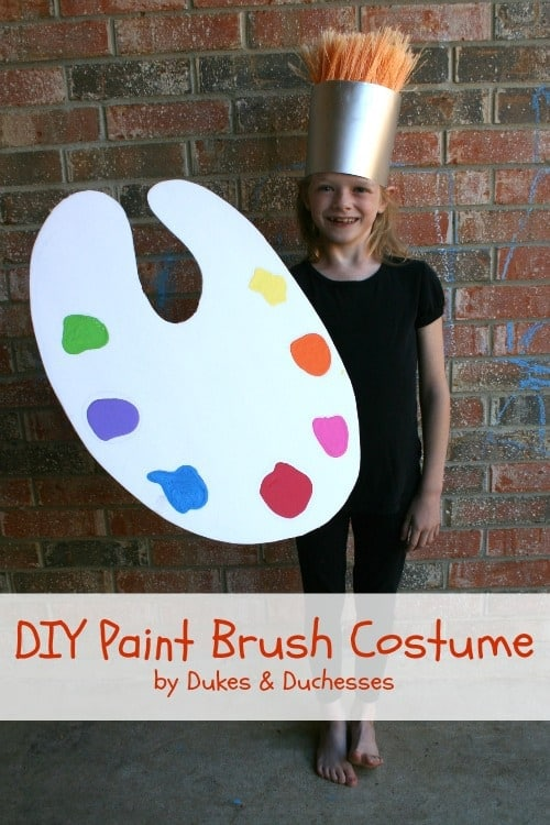 DIY Paint Brush Costume – Dukes & Duchesses - Halloween Costumes: The 15 Cutest Ideas for Kids featured on Kenarry.com