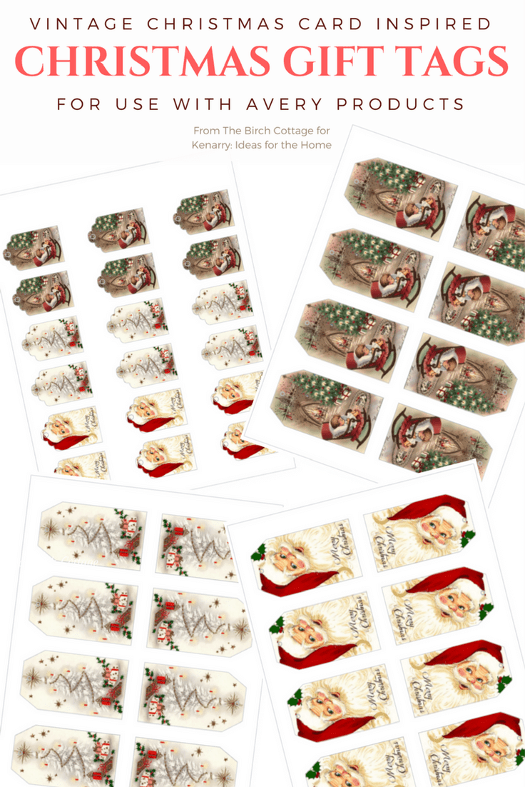 The free printable Vintage Christmas Gift Tags are so nostalgic and beautiful! Perfect for all your presents this holiday season! #printables #christmas #kenarry