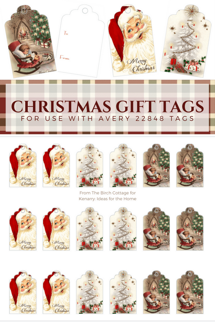 The free printable Vintage Christmas Gift Tags are so nostalgic and beautiful! Perfect for all your presents this holiday season! #gifttags #christmas #kenarry