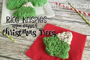 Rice Krispies Snow Capped Christmas Trees; TrishSutton.com