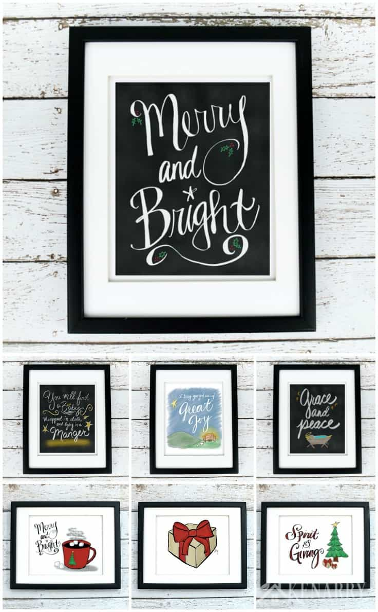 Make your Christmas merry and bright! This beautiful Christmas printables collection is a great way to update your home decor for the holiday season. Each of these digital printables is available on Etsy from Ideas for the Home by Kenarry® so you can decorate with Christmas wall art on a budget.