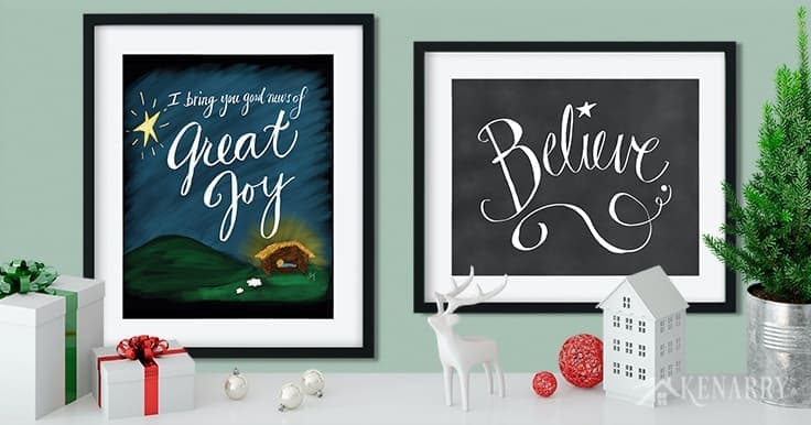 With great job, we announce the new Christmas printables collection from Ideas for the Home by Kenarry® so you can easily update your home decor on a budget! It's is available as digital printable Christmas art on Etsy, perfect for the holiday season.