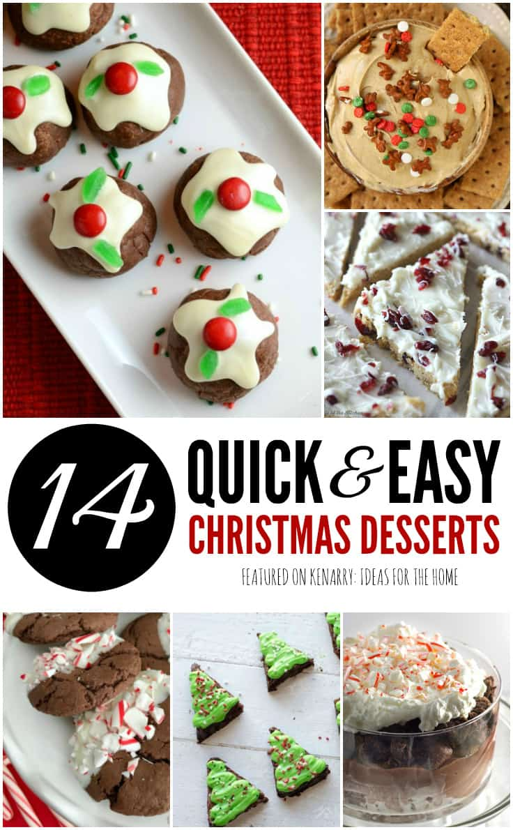 14 quick and easy Christmas Desserts