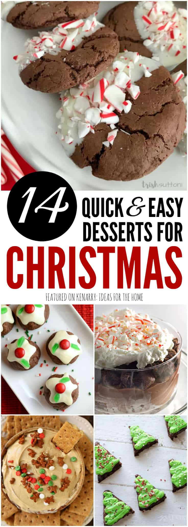 These 14 easy dessert recipes are simple and quick potluck ideas you can pack up to take anywhere you're celebrating Christmas this year. The ideas include recipes for Christmas cookies, trifles, bars, holiday fudge and so much more for your Christmas party.