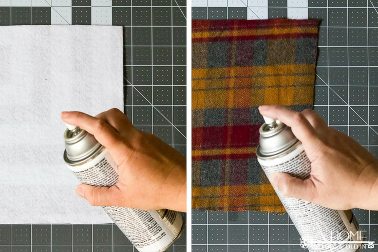 Easily make these no-sew flannel coasters in 5 minutes or less! They are perfect for all your holiday entertaining!