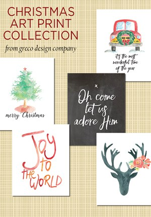 Christmas art print collection