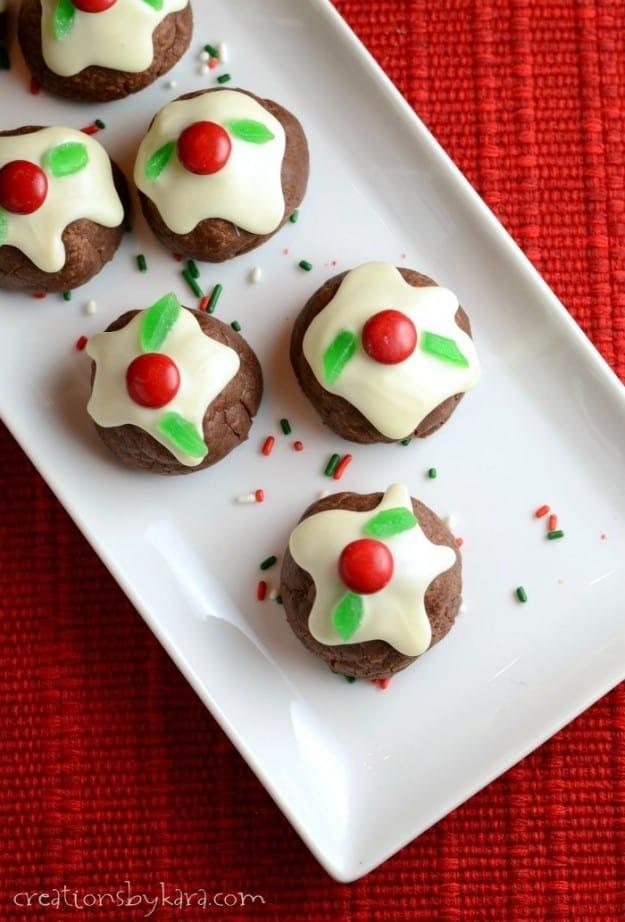 Caramel Filled Bon Bon Cookies – Creations by Kara - 14 Easy Dessert Recipes and Christmas Potluck Ideas featured on Kenarry.com