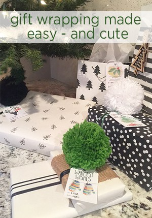 Gift wrapping easy and cute