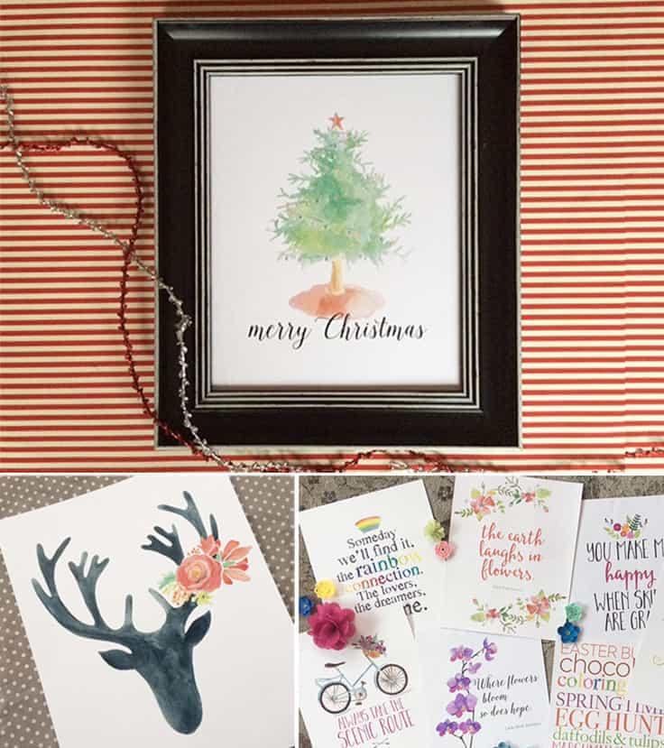 2018 Watercolor Calendars and digital art prints make the perfect holiday gift