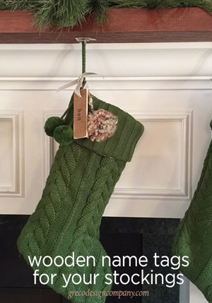 wooden name tags for stockings
