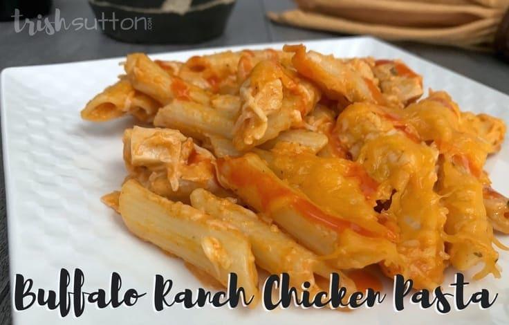 Buffalo Ranch Chicken Pasta Recipe; TrishSutton.com