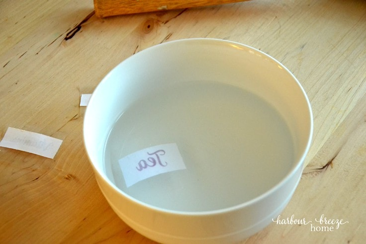 How to make packing tape labels for kitchen organization