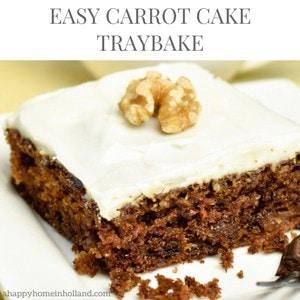 Carrot Cake Traybake Recipe