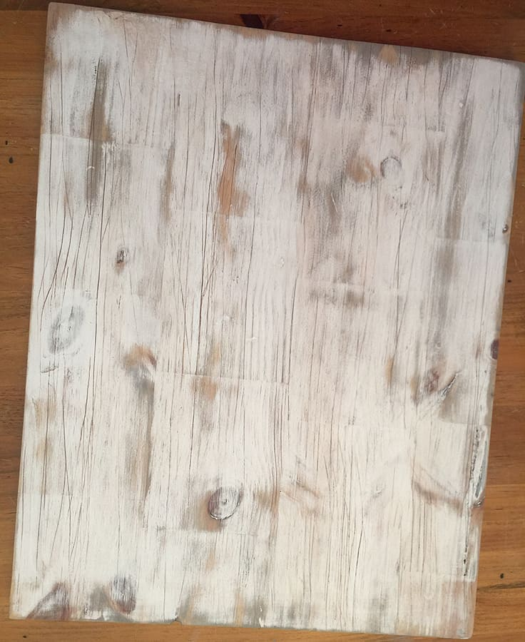 DIY distressed wood hanging organizer with texture