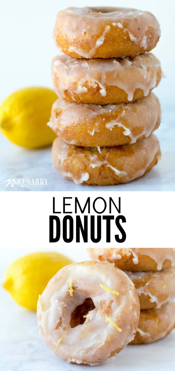Create a delicious breakfast treat your whole family will love with this mouthwatering lemon donuts recipe. It would also be an easy dessert idea for a party or potluck!