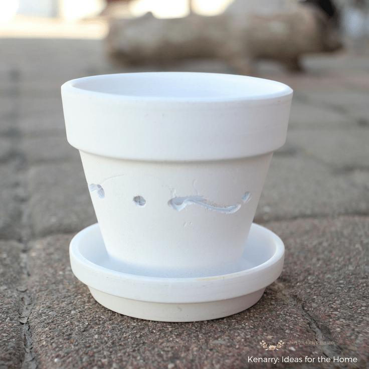 DIY Terra Cotta Pot Luminaries by The Birch Cottage