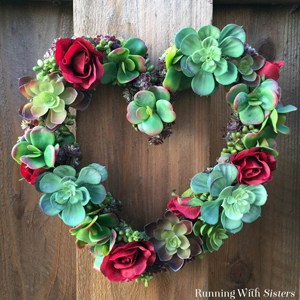 Make a succulent heart wreath! We'll show you how to arrange the succulents, fill in spaces with moss, and add silk roses for color!