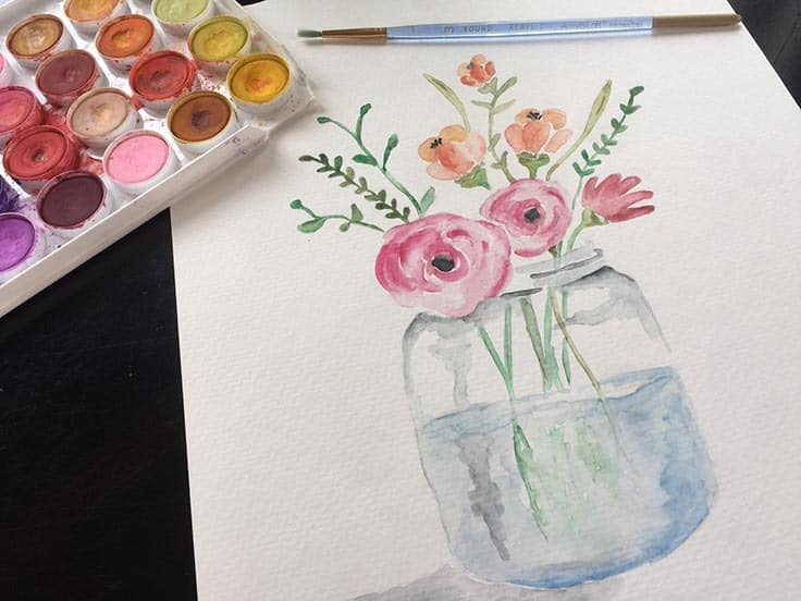FREE Watercolor Note Cards for Spring