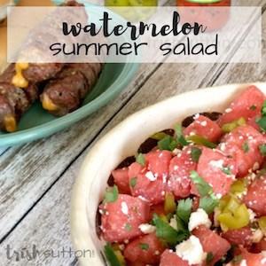 Watermelon Summer Salad Recipe; TrishSutton.com