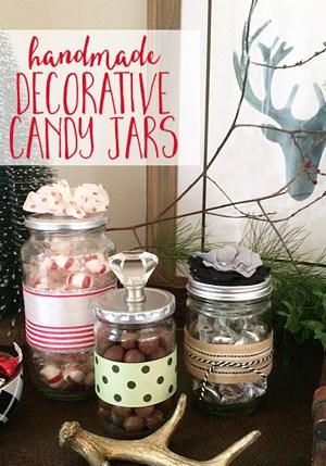 Handmade Decorative Candy Jars make a great gift idea