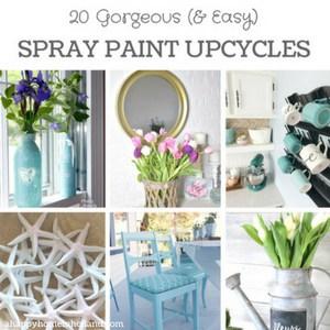 20 easy spray paint upcycle ideas