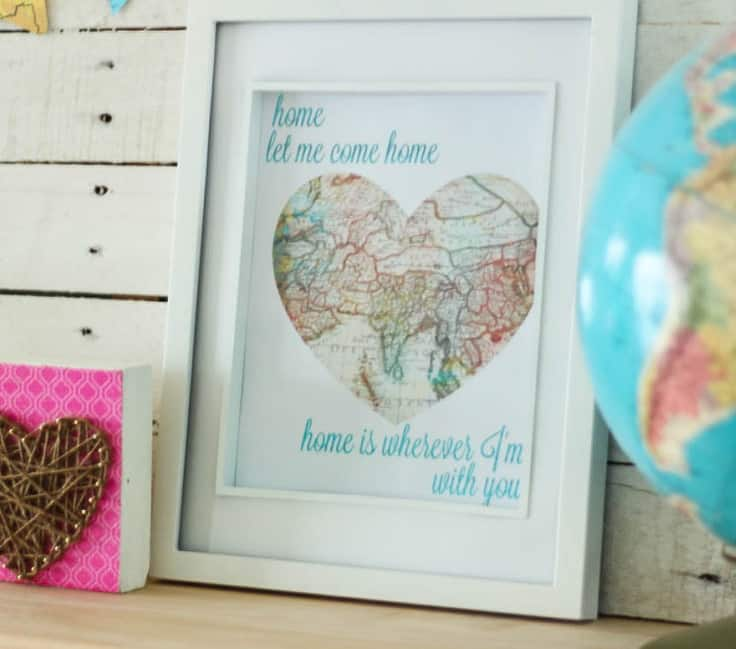 Home is Wherever I'm With You Free Printable Art – The Happy Housie - Home Sweet Home Art: 14 Easy DIY Craft Ideas featured on Kenarry.com