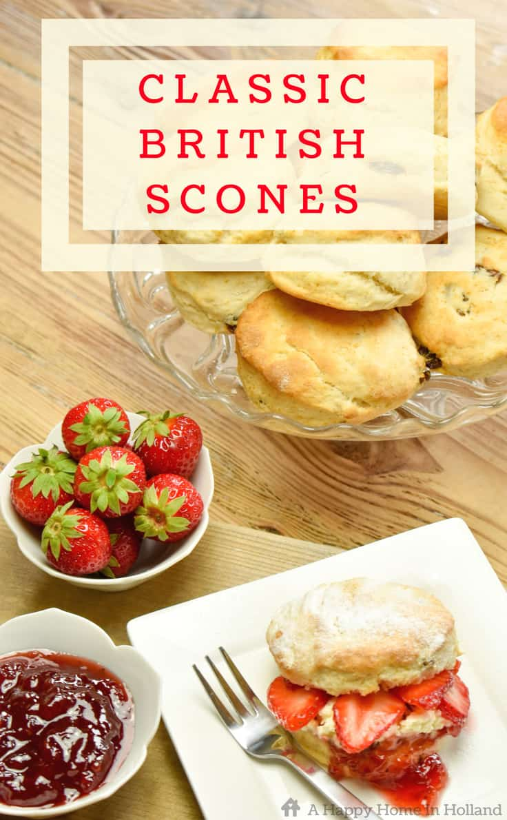Delicious traditional British scone recipe - so quick and easy to make!